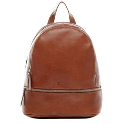 BACCINI sac à dos cuir marron sacs portés dos backpack ville voyage scolaire