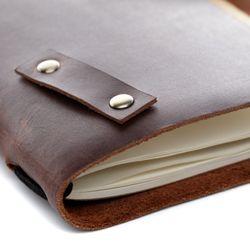 SID & VAIN Notizbuch EXPLORE MORE Natur-Leder braun-cognac Lederbuch Notizbuch 6