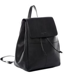 BACCINI Rucksack Glattleder schwarz Backpack Tagesrucksack Stadtrucksack Rucksack 2