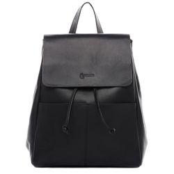 BACCINI sac à dos cuir noir sacs portés dos backpack ville voyage scolaire