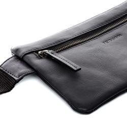 FEYNSINN Hüfttasche Glattleder schwarz Bauchtasche aus Leder Hüfttasche 5