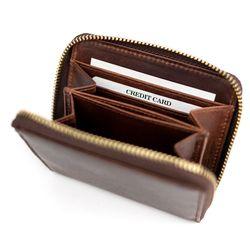 SID & VAIN Portemonnaie Natur-Leder braun-cognac Geldbörse Portemonnaie 2