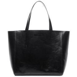 FEYNSINN Handtasche Glattleder schwarz Henkeltasche Handtasche mit langen Henkeln