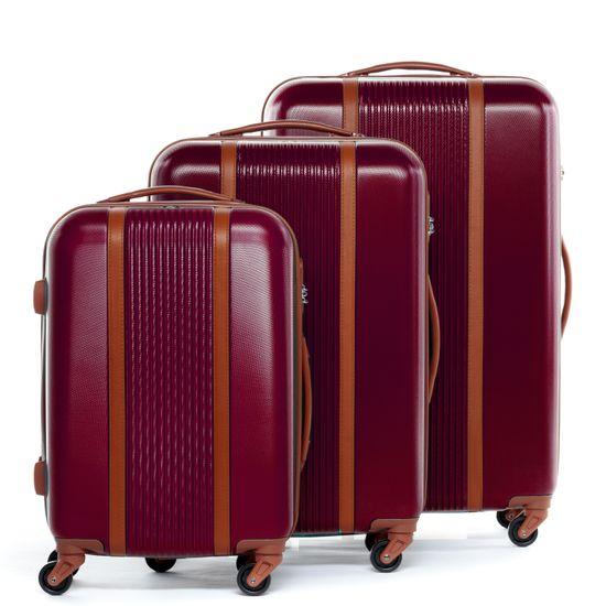 FERGÉ 3er Hartschale MILANO 3-teilig Koffer 4 Rollen Burgundrot   Taschen > Koffer & Trolleys > Sonstige Koffer   FERGÉ