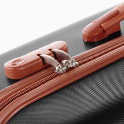 FERGÉ Kofferset 3-teilig MILANO Trolley-Koffer Hartschale leicht 3 Größen ABS Dure-Flex Koffer-Set Leicht 3er Hartschalenkoffer Set 4 Komfortrollen (360°) 3
