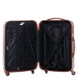 FERGÉ Kofferset 3-teilig MILANO Trolley-Koffer Hartschale leicht 3 Größen ABS Dure-Flex Koffer-Set Leicht 3er Hartschalenkoffer Set 4 Komfortrollen (360°) 4