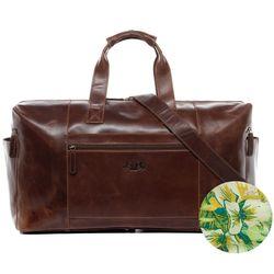SID & VAIN Reisetasche HAWAII Natur-Leder braun-cognac Sporttasche Reisetasche 14