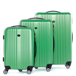 FERGÉ 3er Kofferset erweiterbar TOULOUSE ABS Dure-Flex Apfel-Grün 3er Hartschalenkoffer Roll-Koffer 4 Rollen Kofferset Hartschale 3-teilig erweiterbar 1