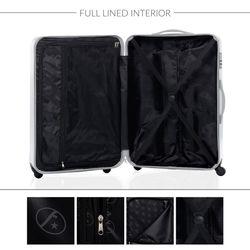 FERGÉ 3er Kofferset Dijon ABS & PC Petrol 3er Hartschalenkoffer Roll-Koffer 4 Rollen Kofferset Hartschale 3-teilig 8