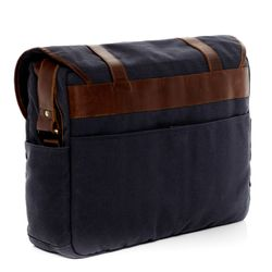 SID & VAIN Messenger bag CHASE Canvas & Leder blau-braun Laptoptasche Messenger bag 4