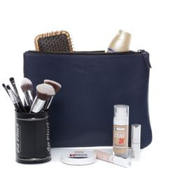 FEYNSINN Make-Up Bag MEL Premium Smooth blau Schminktasche Kosmetiktasche 3