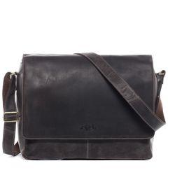 SID & VAIN Umhängetasche Büffelleder braun Businesstasche Laptoptasche Messenger Bag 5