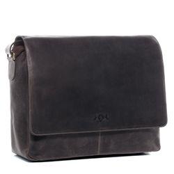 SID & VAIN Umhängetasche Büffelleder braun Businesstasche Laptoptasche Messenger Bag 7