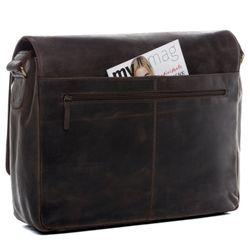 SID & VAIN Messenger Laptoptasche SPENCER Büffelleder braun Businesstasche Laptoptasche Messenger Bag 2