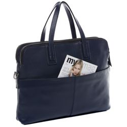 FEYNSINN Aktentasche Premium Smooth blau Laptoptasche Businesstasche 2