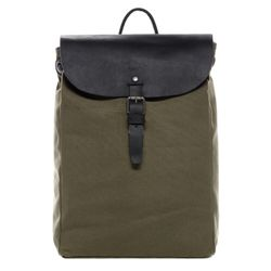 FEYNSINN daybag knapsack Canvas & Leather olive-black backpack Shoulder Bag