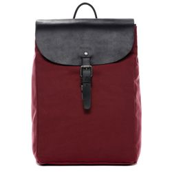 FEYNSINN daybag knapsack Canvas & Leather burgundy backpack Shoulder Bag