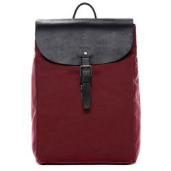 FEYNSINN Rucksack HANNE Canvas & Leder Burgundrot Backpack Tagesrucksack Rucksack