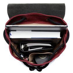 FEYNSINN Rucksack HANNE Canvas & Leder Burgundrot Backpack Tagesrucksack Rucksack 4