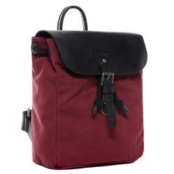 FEYNSINN Rucksack HANNE Canvas & Leder Burgundrot Backpack Tagesrucksack Rucksack 3