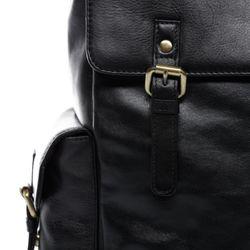 SID & VAIN Stadt-Rucksack SAMY Premium Smooth schwarz Backpack Tagesrucksack Stadtrucksack Rucksack 6