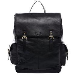 SID & VAIN Stadt-Rucksack SAMY Premium Smooth schwarz Backpack Tagesrucksack Stadtrucksack Rucksack 1