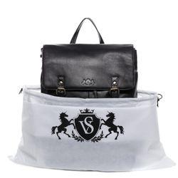 SID & VAIN Lederrucksack Premium Smooth schwarz Backpack Tagesrucksack Stadtrucksack Rucksack 7