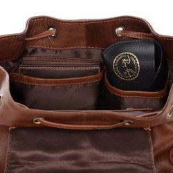 SID & VAIN Stadt-Rucksack LIVIA Premium Smooth braun-cognac Backpack Tagesrucksack Stadtrucksack Rucksack 4