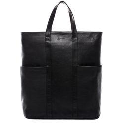 BACCINI Shopper & Rucksack LIANE-DUO Premium Smooth schwarz Shopper Laptoptasche & Rucksack