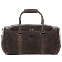 SID & VAIN Airplane Underseat Travel Duffel Bag Buffalo Leather brown travel bag holdall carry-on Travel Duffle