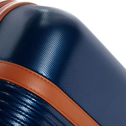 FERGÉ Koffer MILANO ABS Dure-Flex blau-braun Reisekoffer Kabinen-Trolley 4 Rollen Koffer Hartschale 3