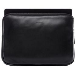 FERGÉ pochette d'ordinateur portable cuir noir Manche pour ordinateur portable, pochette  housse ordinateur portable