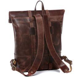 SID & VAIN Rucksack Roll Top CHAZ Büffelleder braun Backpack Tagesrucksack Kurierrucksack Rucksack 7