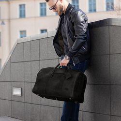 SID & VAIN Reisetasche CHAD Büffelleder schwarz Sporttasche Reisetasche 2