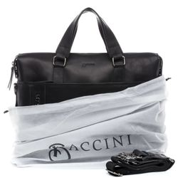 BACCINI Laptoptasche LEANDRO Premium Smooth schwarz Businesstasche Laptoptasche 4