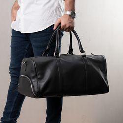 BACCINI Sporttasche FLORIAN EasyCare Nappa schwarz Reisetasche Sporttasche mit separatem Schuh-Fach Hemden 5