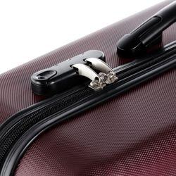 FERGÉ Handgepäck 55 cm Hartschale Burgundrot Reisekoffer Kabinentrolley 4 Rollen 360° Handgepäck-Koffer Hartschale 55 cm 4