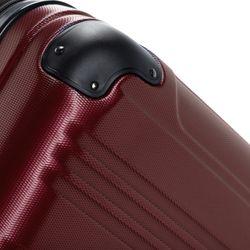 FERGÉ XL Koffer QUÉBEC ABS Dure-Flex Burgundrot Hartschalenkoffer Trolley 4 Rollen XL Großer Koffer Hartschale 2