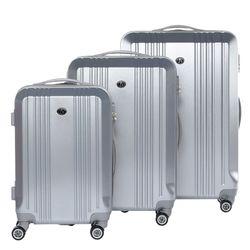 FERGÉ ensemble de 3 valises CANNES set trois trolley rigide 4 roulettes noir