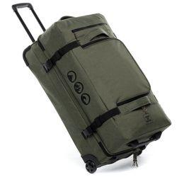 Reisetasche mit 2 Rollen KANE Duffel-Trolley Rollkoffer olive