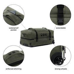 Sac de voyage avec 2 rouleaux KANE Duffel-Trolley valise trolley olive 4