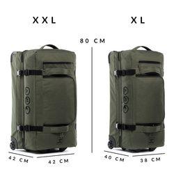 Sac de voyage avec 2 rouleaux KANE Duffel-Trolley valise trolley olive 3