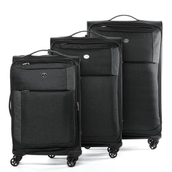 FERGÉ Kofferset 3-teilig erweiterbar Weichschale Saint-Tropez Trolley-Set Stoffkoffer 4 Rollen 360° Kofferset Weichschale 3-teilig erweiterbar | Taschen > Koffer & Trolleys > Koffersets | FERGÉ