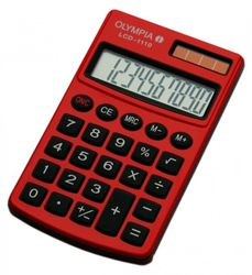 OLYMPIA LCD 1110 calculatrice, rouge