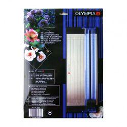 OLYMPIA Laminierfolien-Set mit DIN A5 Schneidelineal, 100 gemischte Folien, 80 Mikron