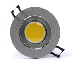 COB SMD LED Downlight 4W in two colors of light equivalent to 35 watt incan lamp