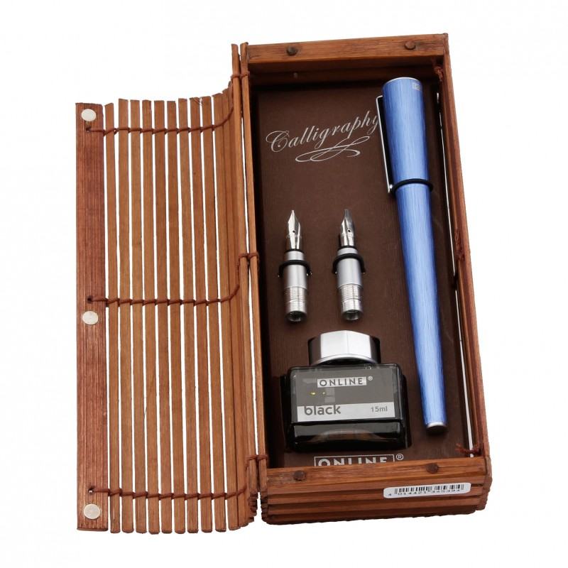Online Calligraphy Set 1,4mm in bamboo box