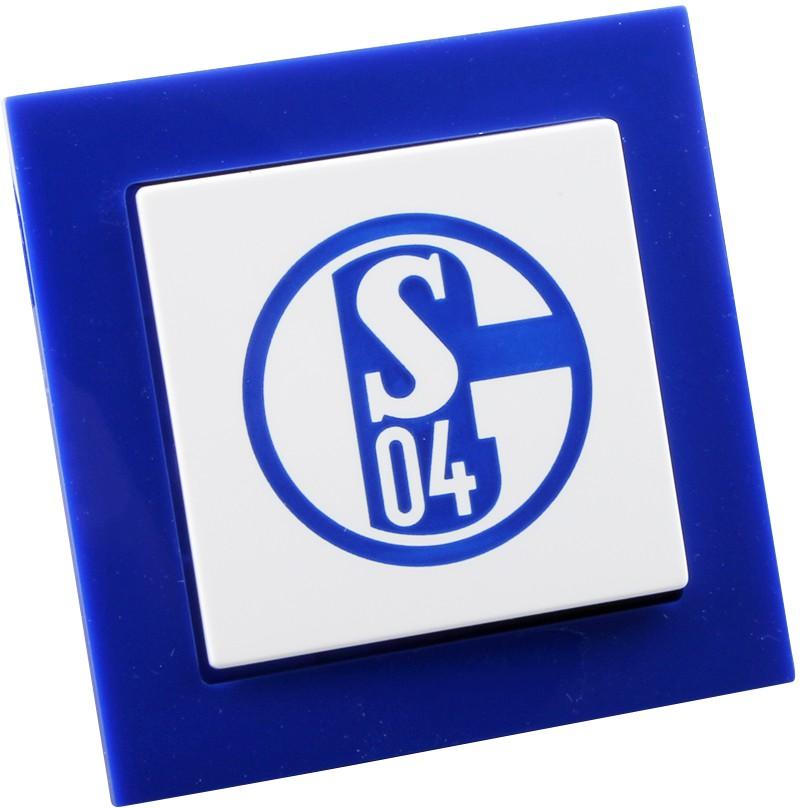 Lichtschalter im Design Schalke 04