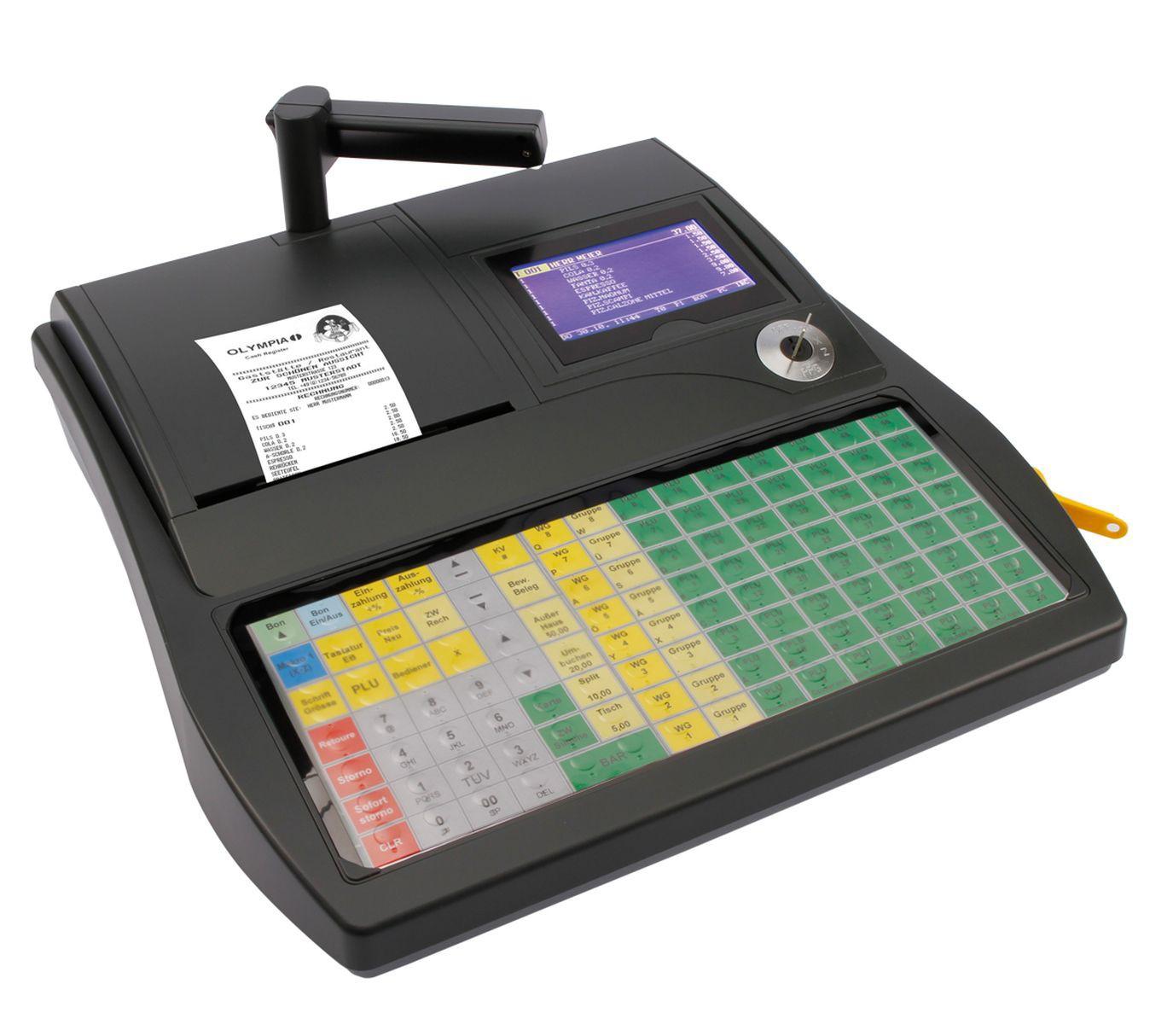 OLYMPIA CM 980 F Registrierkasse mit Flachtastatur