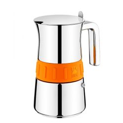 "Espresso Maker ""ELEGANCE"" Orange, 6 cups, Brand: Pintinox"